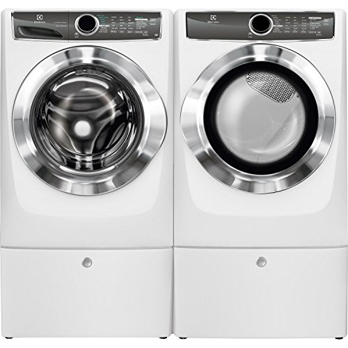 Electrolux Front Load Washer and Electric Dryer Set with Pedestals EFLS617SIW and EFME617SIW and EPWD157SIW ()