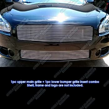 Fits 2009-2014 Nissan Maxima Billet Grille Grill Combo Insert # N87774A