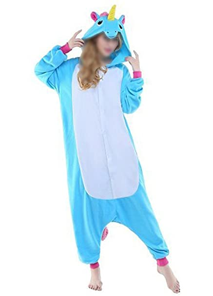 Mujeres Pijama Unicornio Fleece Animal Ropa siamesa Cosplay
