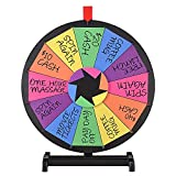 """WinSpin 18"""" Tabletop Prize Wheel 12 Slot Spinning"""