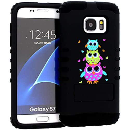 Galaxy S7 Case, Hybrid Heavy Duty Rugged Armor Kickstand Shock Proof Impact Resistant Grip Cover for Samsung Galaxy S7 (Cute Owl / Black) Sales