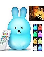 Ricaricabile USB con telecomando Mini Lampada da notte a LED multicolore per bambini