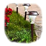 Enchanted Spaces Solar Path Light, Set of 6, Bronze, with Glass Lens, Metal Ground Stake, and Extra-Bright LED Review