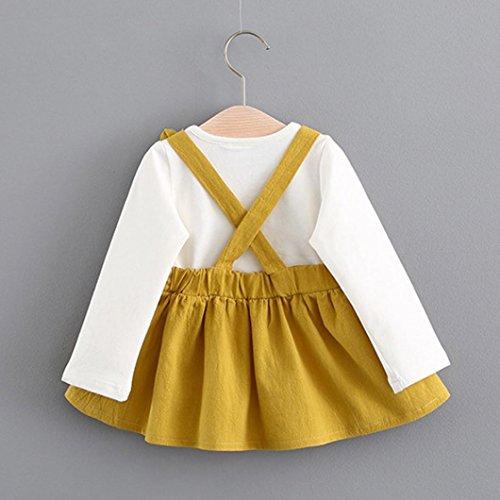 SUNBIBE Cute 2-7Years old Girls Christmas Print Long Sleeve Mini Swing Party Winter Dress
