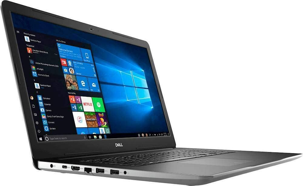 "Dell Inspiron 17 17.3"" i3793-7275SLV-PUS 10th Gen Intel Core i7-1065G7 16GB RAM 2TB HDD + 256GB SSD DVD-RW 2GB NVIDIA MX230 (1920 x 1080) Display Windows 10 Home"