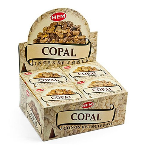 Hem Copal Cones Incense - 4 Packs, 10 Cones per Pack