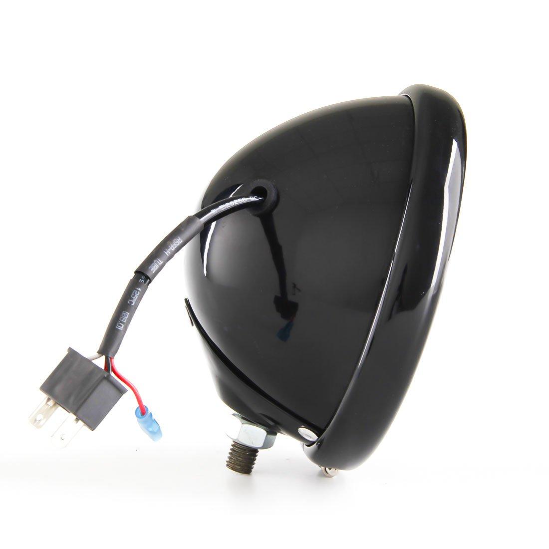 5 3//4 5.75 Inch Led headlights Housing Bracket bucket for Harley Davidson motorcycle C black