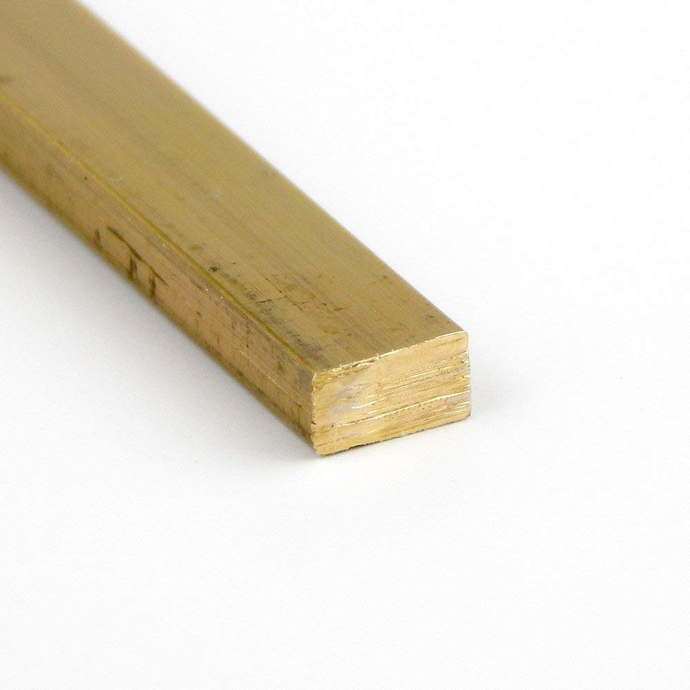 Unpolished 1 Thickness H02 Temper Extruded 2 Width 360 Brass Rectangular Bar Mill OnlineMetals ASTM B16 96 Length Finish