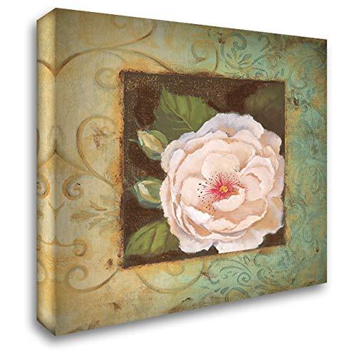 Antique Rose IV 20x20 Gallery Wrapped Stretched Canvas Art by Jeffrey, Jillian (Jillian Jeffrey Antique)