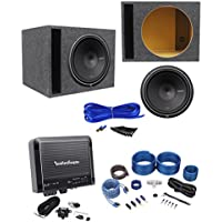 Rockford Fosgate Punch P2D4-15 800w 15 Subwoofer+Amplifier+Amp Kit+Vented Box