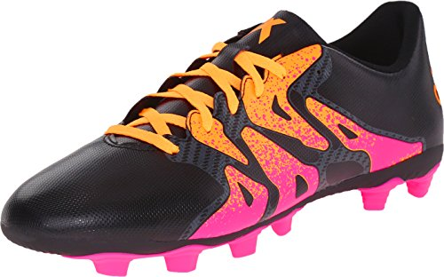 adidas Performance Men's X 15.4 Soccer Shoe,Black/Shock Pink/Gold,12 M US