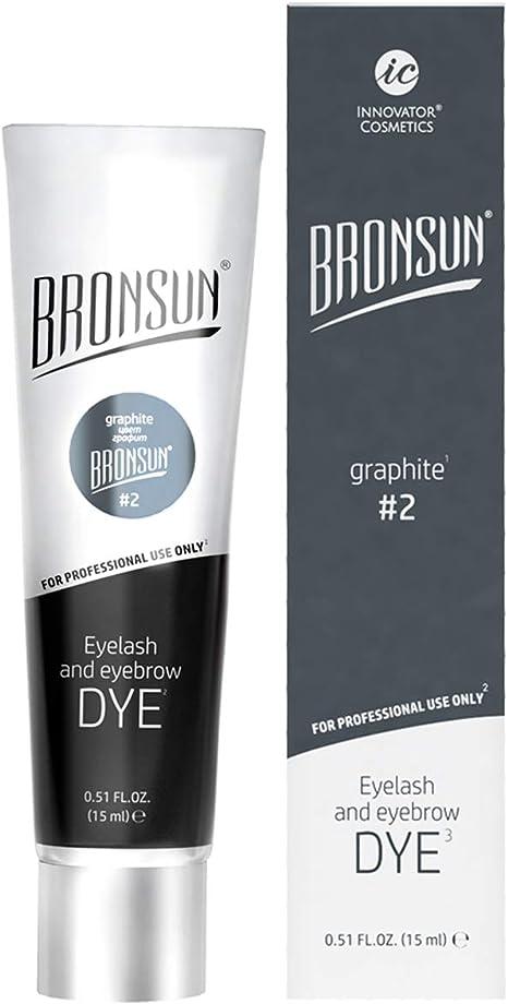 Tinte para cejas y pestañas para colorear – Instant Eyebrows and Lashes colores de larga duración 15 ml (grafito N°2)