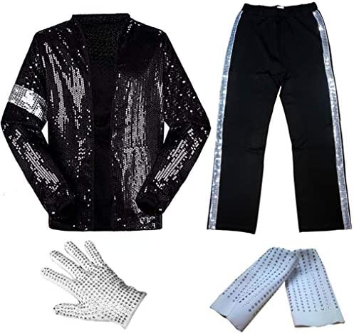 for Adult Child MJ Michael Jackson Billie Jean Jacket Suit Dance Cosplay Costume
