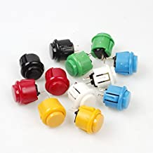 EG Starts 12x 24mm OEM Arcade Push Buttons Switch Perfect Replace for Sanwa OBSF-24 OBSC-24 OBSN-24 Push Button DIY Fighting Stick PC Joystick Games Parts ( Each Color of 2 Pieces )