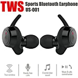 True Wireless Sport Earbuds,SHINXIN Bluetooth 4.2 Cordless Earphone,Build-in Mic Noise Cancelling Headsets, Dual HD Stereo Headphones, Hands-Free Sweatproof for Working Out