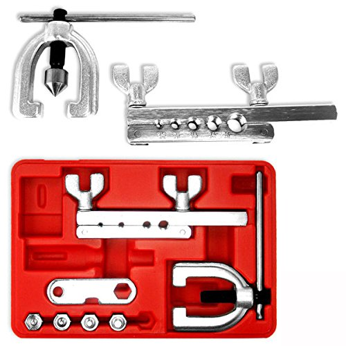 Kit Brake Yoke - Neiko 20657A ISO/Bubble Flaring Tool Kit, 9 Piece | Includes Blow-Molded Case