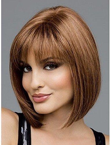 Peluca de pelo sintético clásico, de moda de Auburn, peluca para mujer, pelo