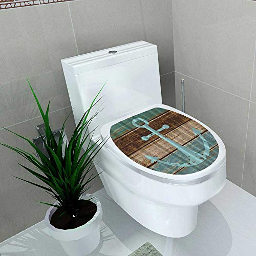 - Printsonne Waterproof self-Adhesive urtain Water Soap Mildew Resistant Machine Washable Hooks are Included Toilet Seat Vinyl Art Stickers W11 x L13
