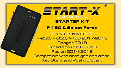 Start-X Remote Starter For F-150 2015-2019, F-250 17-19, Ranger 19, Expedition 18-19, Edge 16-19, Fusion 14-19 (NO HONK-LOCK-UNLOCK-LOCK)