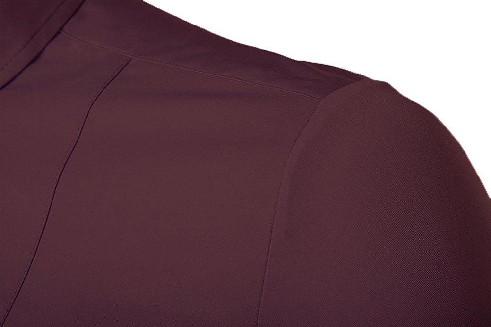 1bd1d96ec Kuson Camisa de manga larga para hombre camisas clásicas de negocios ...