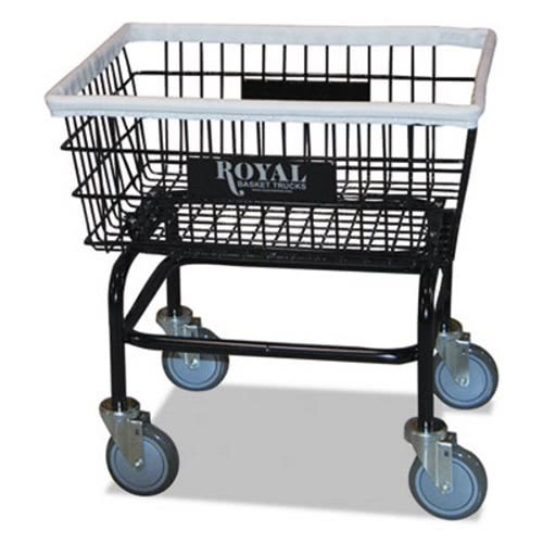 Royal Basket Trucks R27BKXWA5UN Small Wire Laundry Cart, 21 x 26 x 26 1/2, 200 lbs. Capacity, Black