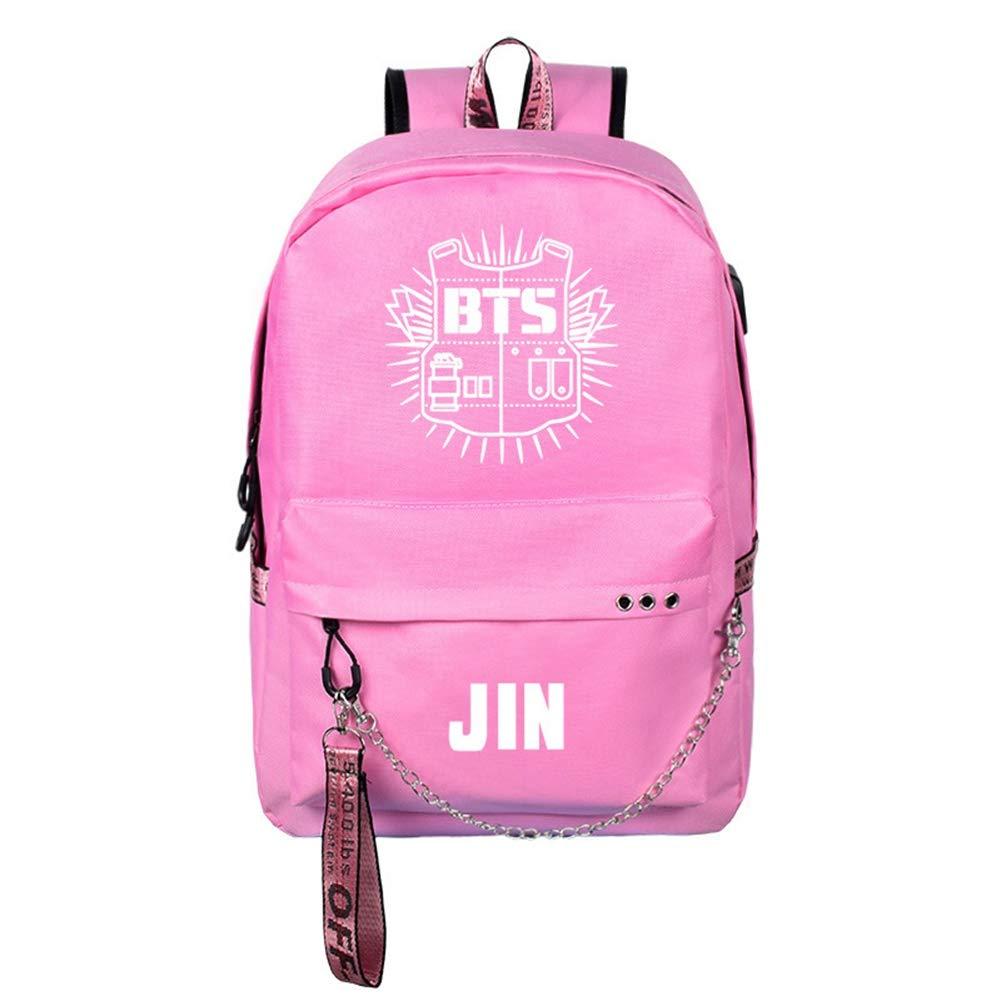 buen regalo para BTS Kids A01 8 pcs BTS Pens GOTH Perhk Kpop BTS Mochila 1 hoja de BTS Sticker Bangtan Boys School Backpack College Bag