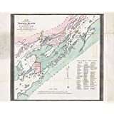 "1875 Historical Map of Thousand Islands St Lawrence River Canada - Map Reprint 19"" X 24"""