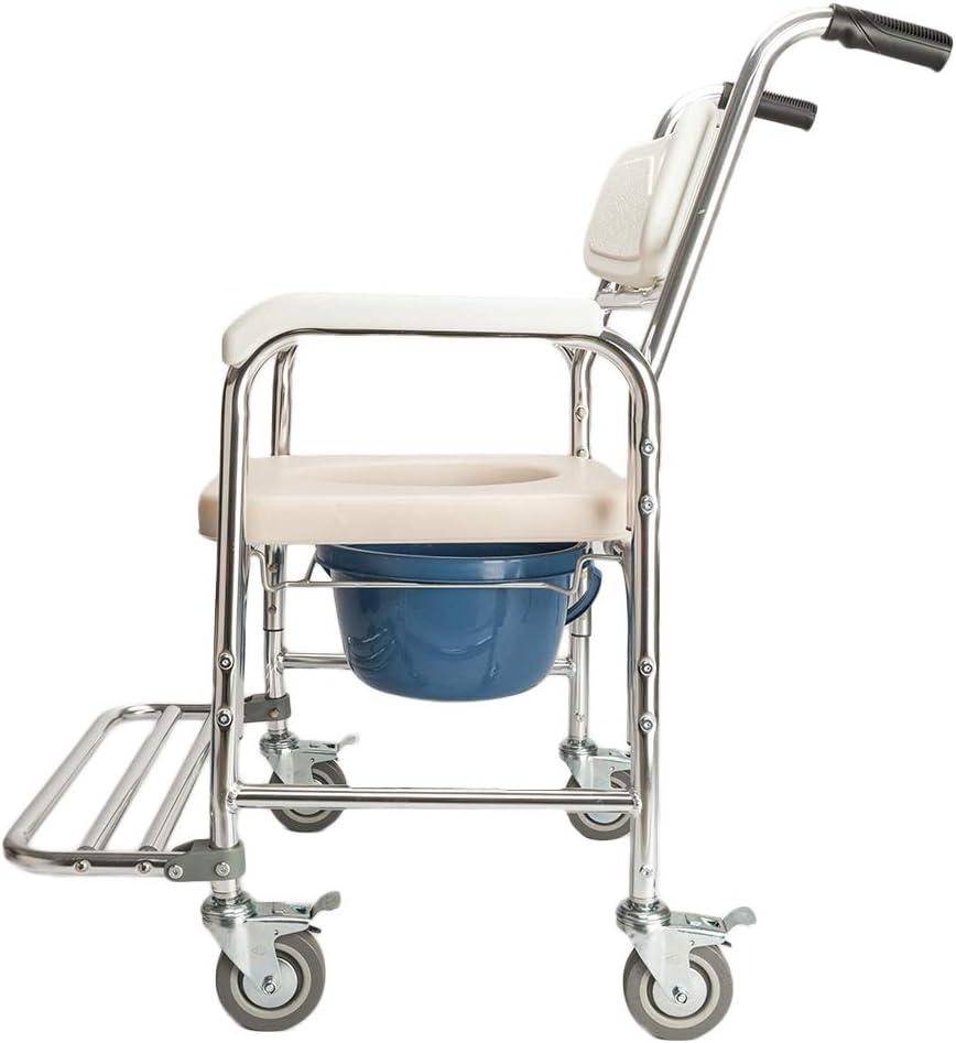 Banco de asiento de baño, 4 en 1 Silla de ducha multifuncional Aluminio Anciano Personas discapacitadas Mujeres embarazadas Cómoda Silla Silla de baño, Blanco