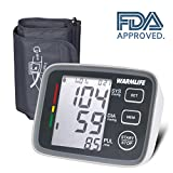 WARMLIFE Accurate Automatic Upper Arm Blood Pressure Monitor Digital BP Machine Pulse Rate Monitoring Meter with 8.8-14.1in Cuff Kit,180 Records Two Users,Display&Talking Wire/Wireless– FDA Approved