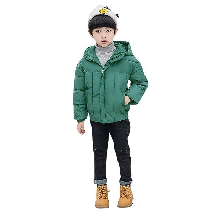 Amazon.com: Chaqueta de invierno con capucha para bebés y ...