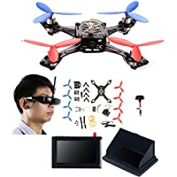 AICase Cheerson TINY 117 Mini FPV DIY HD Video Camera Racing Quadcopter Drone Kit with [ VR Glasses ][ LCD Monitor][ Kickstand ][ Antenna ]