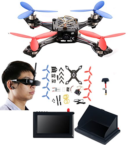 AICase-Cheerson-TINY-117-Mini-FPV-DIY-HD-Video-Camera-Racing-Quadcopter-Drone-Kit-with-VR-Glasses-LCD-Monitor-Kickstand-Antenna