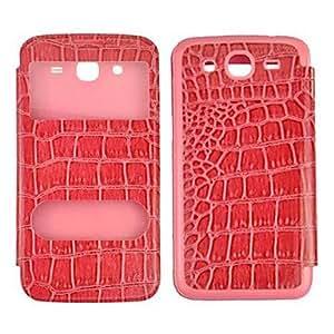 SHERRYLEE crocodile Leather Case with Dormancy Sleep Function for Samsung Galaxy Mega 5.8 i9150 , Green