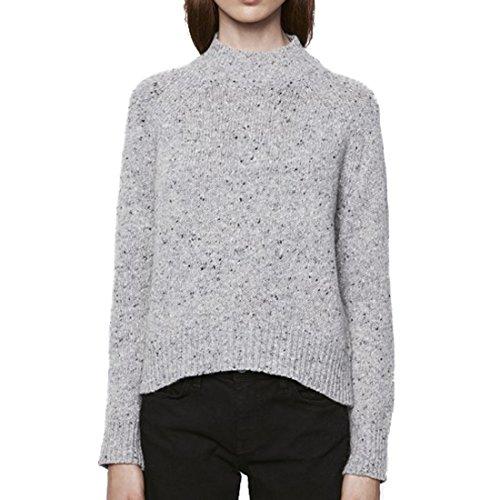 Rebecca Minkoff Women's Funnel Neck Banga Sweater Sz S Light Grey ()
