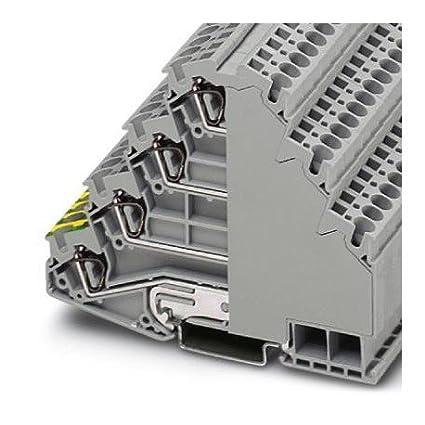 Amazon com: DIN Rail Terminal Blocks ST 4-PE/3L: Electronics