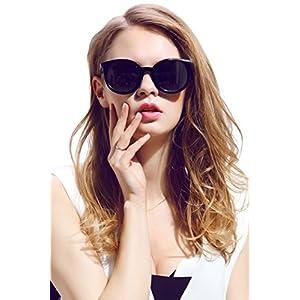 Diamond Candy Women's Sunglasses UV Protection Polarized eye glasses Goggles UV400 54Blackgray
