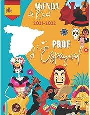 Agenda de bord 2021-2022 : Prof d'espagnol: Carnet de bord du professeur 2021-2022 | Planificateur de cours | Agenda semainier | Citation espagnol | Cahier journal enseignant | Format A4