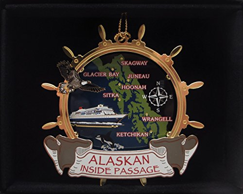 Alaskan Inside Passage Christmas ORNAMENT Cruise Ship Eag...