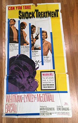Shock Treatment (1964) 20th Century Fox Original Three-Sheet Movie Poster 41x81 Folded Average Used Condition LAUREN BACALL CAROL LYNLEY STUART WHITMAN Film Directed by DENIS SANDERS Large Format (Fox 20 Shock)