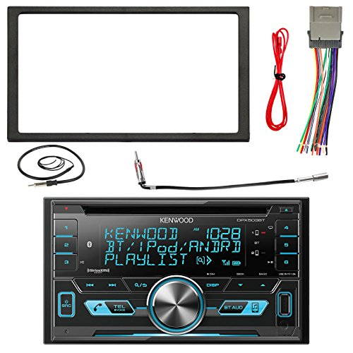 Kenwood DPX502BT 2-Din Bluetooth CD/MP3 Reciever with Metra Installation Kit, Wire Harness and Enrock 22-Inch Radio Antenna