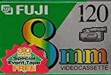 FUJI MP P6-120 DS N 8mm Videocassette Tapes, 2 Pack w/Bonus