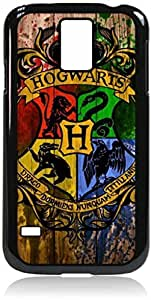 linJUN FENGPainted Hogwarts Emblem- Hard Black Plastic Snap - On Case with Soft Black Rubber LiningGalaxy s5 i9600 - Great Quality!