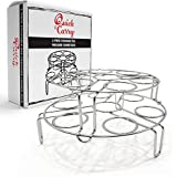 "Quick & Carry, Stackable Egg Rack for""Instant Pot"" Pressure Cookers, Stainless Steel, 2 Piece Set"