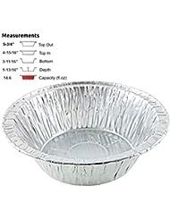 Pactogo Disposable Aluminum 5 3/4 Meat Pot Pie Extra Deep Pan Baking Tin (Pack of 50)