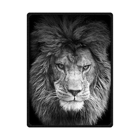 HommomH 60 x 80 Soft Blanket Air Conditioning Hipster Lion