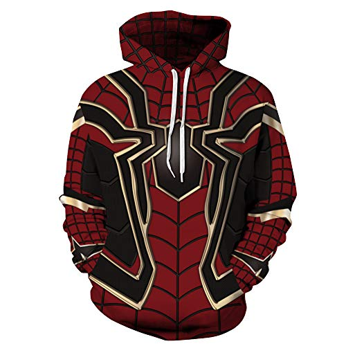 TAKUSHI HF Unisex Fashion Galaxy 3D Digital Printed Pullover Hoodies Hooded Sweatshirts for Sport and Party(Spiderman,S/M) -
