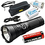 Klarus G20L Rechargeable Flashlight -CREE XHP70.2 P2 LED -3000 Lumens -Battery Included w/ LightJunction USB Car and Wall Adaptors
