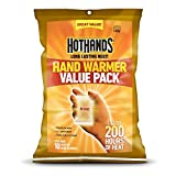 HotHands Hand Warmer Pack (Up to 10 Hours Heat)-Individually Packed, 100 Pair Plus 4 Free Cura Heat (Back Therapy Patches)