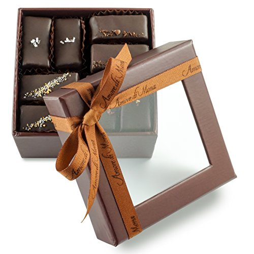 Amore di Mona Gluten-Free, Vegan, Milk-Free, Nut-Free Assorted Chocolate Mignardise 16 Piece Gift-Box