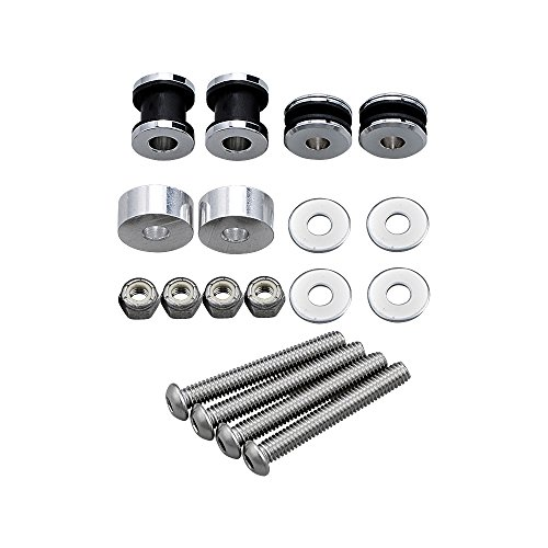 Chrome 4-Point Docking Hardware Screw Kit For Harley Touring FLSTC FXSTSB FXSTS FXSTC FLSTF FXST FXSTB (Detach Kit)